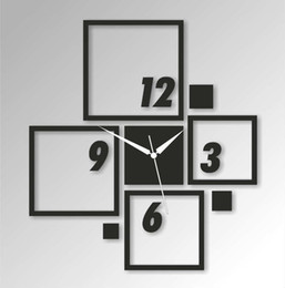 Wholesale Frame Wall Clock - Wholesale-2015 Limited Freeshipping Big Frames Mirror New Arrival Novetly Design Luxury Wall Clock 3d Crystal Watches Michael Clocks