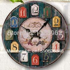 Wholesale Scenic Wall Clocks - Wholesale-Hot Sales Antique European Scenic Style Wall Clock for Home Decoration