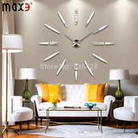 Wholesale Large Decorative Bells - Wholesale-2015 Large size DIY home decorative wall clock,creative radiated Divergent Art Bell wall stickers clock modern design,home decor