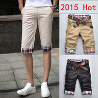Wholesale Short Jeans Hot Pant - Wholesale-Hot Sale! 2015 Summer Colorful Mens Jeans Shorts Knee Length Shorts For Men Casual Beach Shorts Bermuda Masculina Large Size 3XL