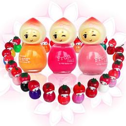 Wholesale Doll Nail Polish - Wholesale-free shipping 10pcs Hot-selling fruit nail princess 0969 nail polish oil mini fruit doll