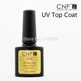 Wholesale Nail Polish Cnf - Wholesale-20PCS(10 Base+10 Top Coat) CNF HIGH QUALITY SOAK OFF LED & UV NAIL GEL POLISH LACQUER SET