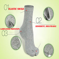 Wholesale Leg Finger - Wholesale-5Pairs  Lot Five Fingers Socks Mens Cotton five toe socks warmer thermal toes sock korean Whosale autumn -summer - Winter