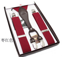 Wholesale Gallus Suspenders - 2011 brand new men suspenders   braces   gallus with four clip. hot selling mixed order.AD47