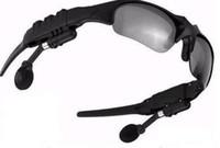 сотовый телефон bluetooth солнцезащитные очки оптовых-1 комплект 2GB Bluetooth-гарнитура солнцезащитные очки MP3-плеер Bluetooth очки для мобильного телефона + бесплатная сумка