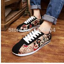 Wholesale Fashon Shoes - Wholesale- fashon New Winter men shoe, fashion ethnic print casual sneaker,cotton-padded flat cortez