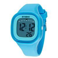 Wholesale Boys Lighting Watch - Wholesale- New Fashion 1PC Silicone LED Sports Wrist Watch Light Digital Waterproof Watch Kids Women Girl Men Boy Wholesale Promotion