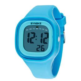 Wholesale Digital Kids Boys Watch - Wholesale- New Fashion 1PC Silicone LED Sports Wrist Watch Light Digital Waterproof Watch Kids Women Girl Men Boy Wholesale Promotion