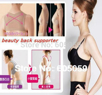 Wholesale Beauty Back Supporter - Wholesale-corset body women Beauty Back Supporter Posture Shoulder Support Band Belt Brace Corrector Women Shapers For Back uhu039