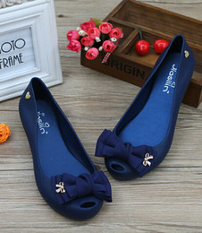 Wholesale Jelly Heels Women - Wholesale-Melissa Sandalia Rasteirinha Feminina Plastic Jelly Shoes Peep Toe Sandals 2015 Summer New Sandalias Femininas