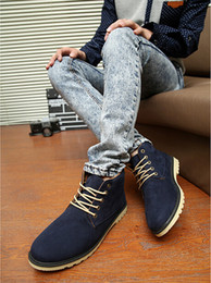 Wholesale Mens Blue Suede Ankle Boots - Wholesale-NEW MENS ANKLE BOOTS DESERT SUEDE CASUAL DRESS LACE LINED CHUKKA SHOES