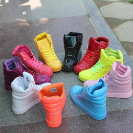 Wholesale Chunky Ankle Boots - Wholesale New Fluorescent Bright Color Shoes Women Sneakers Men Casual Shoes Fashion Boots Waterproof Sport Footwear Size 36-44