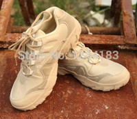 Wholesale Desert Training Boots - Wholesale- New Men's Military Assualt Boots US Army Outdoor Lightweight Desert Tan Combat Boots Male Shoes Tactical Training Boot