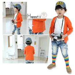 Wholesale Korean Wear Spring - Wholesale-clothing for baby boys girls knitted sweater spring autumn Baby clothing wear Sweaters baby boy winter cardigan Korean 9 colors