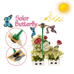 Wholesale Solar Energy Birthday Gifts - Wholesale-Free Shipping Birthday Gifts for Children Solar Sun Power Energy Butterfly Toy Insect Gadget Educational Kit For The New Year