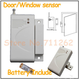 Wholesale 315mhz Window Sensors - Wholesale-315MHz 433MHz Wireless Door window Magnetic Sensor for GSM Home security alarm systems