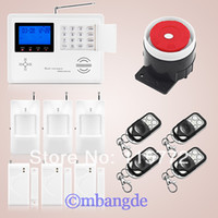 Wholesale Dialer Gsm Pstn - Wholesale-Dual Net Wireless GSM PSTN Home Burglar Auto Dialer Alarm Security System PIR Free Shipping