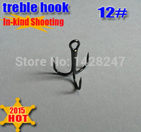 Wholesale Three Hooks Fly - Wholesale-2015new fishing treble hooks three anchor hook three claw size:12# round bent treble hook quantiy:200pcs lot