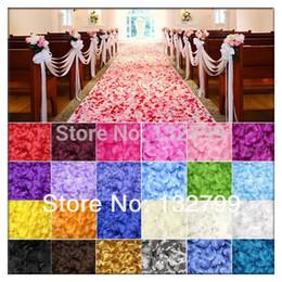 2019 piante di rose desertiche Wholesale-1000Pcs seta rosa petali di fiori da sposa partito scoppiers decorazione favore multicolor 5cm