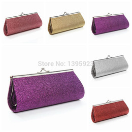 Wholesale Purple Glitter Purse - Wholesale-2015 Glitter Handbag Wedding Bridal Evening Party Clutch Chain Purse Wallet Bags Women Gift Shoulder Bag