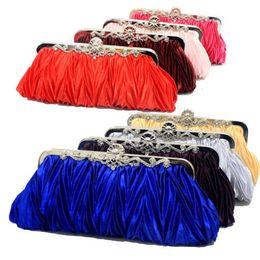 Wholesale Red Purple Evening Bags - Wholesale-Party Bag Wedding Clutch Evening Bag Bridal Outgoing Clutch Wallet Purse