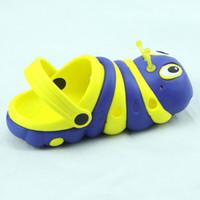 Wholesale Slipper Caterpillar - Wholesale-Hot sales 2015 summer child slippers caterpillar male garden slippers shoes cute slipper