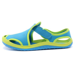 Wholesale Kinds Sandals - Wholesale-2015 new kids shoes. Boys and girls fashion sandals. Children's leisure beach shoes. 14 kinds of color size 21-35 free