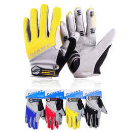 Wholesale Giant Full Road Bike - Wholesale-Brand Giant Winter Warm Full Finger Cycling Gloves Sports Accessory road Mountain bike silicone non-slip breathable gloves