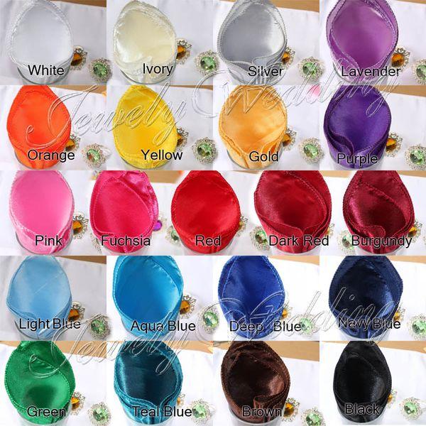"best selling Wholesale-50 pcs lot Purple Satin Table Napkin 12"" Square Pocket Handkerchief Multi Purpose Wedding Decor"