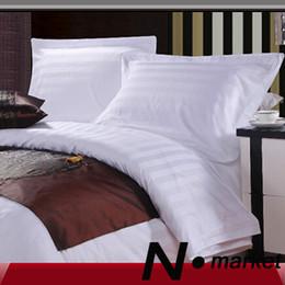 Wholesale Wholesale Pillow Cases Free Shipping - Wholesale-2015 Free Shipping Factory Direct Sale Hotel 100% Cotton Single Pillow cover 3CM Stripe White 5CM Overlap Pillow Case
