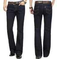jeans élastiques pour taille plus achat en gros de-En gros-Nouvelle Arrivée Livraison Gratuite Haute Qualité Business Flare pantalons Hommes taille mince milieu élastique boot cut Jeans Plus Size Pantalon