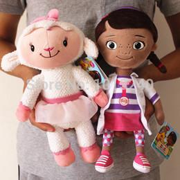 Wholesale Doc Toys - Wholesale-Free shipping 2pcs lot 30cm=11.8inch Doc McStuffins plush soft toys,Dottie girl and McStuffin Lambie sheep plush