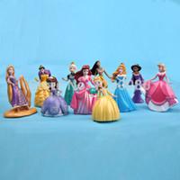 Wholesale Ceramic Dolls - Wholesale-10 pcs Princess Rapunzel Sofia Ariel Toy Figures  Cake Topper