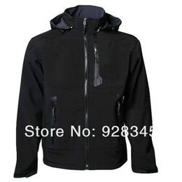 Wholesale Hoodie Jacket Xxl Size - Wholesale-Free Shipping men denali fleece apex bionic soft shell Waterproof windproof hoodie jacket Black size :S M L XL XXL