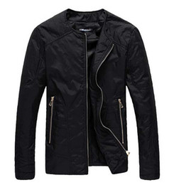 Wholesale Thin Jackets For Sale - Wholesale-Autumn Winter Wear Thin Casual Men Jacket Sample Fashion O-Neck Regular Jackets For Men Plus Size 5XL Dark Blue 11.11 On Sale