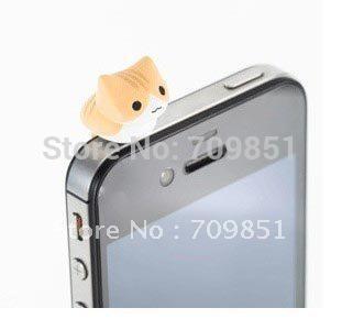Wholesale-For  iPAD Anti Dust Plug Stopper cute cat Dustproof plug.