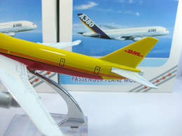 Wholesale Airlines Airplane Model - Wholesale-Free Shipping!Wholesale DHL B747 aircraft model airplane model,16cm metal airlines plane model,prototype machine,Christmas gift