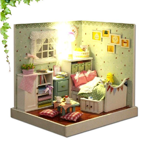 Diy Furniture Room Mini Box Dollhouse Doll House Miniature: Wholesale 3D DIY Dollhouse Kit Room Box Miniatures