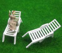 Wholesale Sun Lounger Wholesale - Wholesale-YZ8704 Model Railway Layout 1:87 Sun Loungers Beach Chairs HO OO Scale