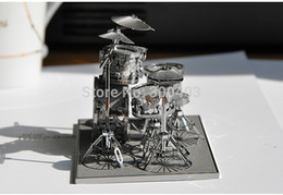 Wholesale Diy Metal Rack - Wholesale-High precision metal handmade craft DIY 3D assembly musical instrument model Rack drum set kits home artcraft,hot best gifts