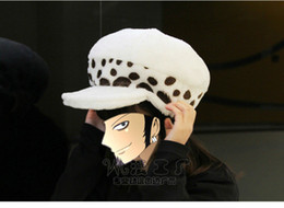 Wholesale One Piece Anime Trafalgar - Anime One piece Cosplay Trafalgar Law Plush Hat 2 Years Later Warm And Cute Cosplay Hat Free Shipping