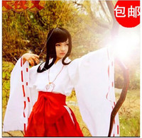 Wholesale Kikyou Cosplay - Japanese Anime Inuyasha Cosplay Kikyou Kimono Carnival Costume Halloween Costumes Dress For Women Girl Hot Sell New Arrival