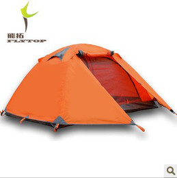 Wholesale Two Person Canvas Tent - Wholesale-Good quality Flytop double layer 2 person 4 season aluminum rod outdoor camping tent Topwind 2 PLUS with snow skirt