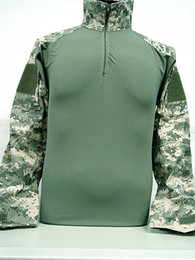 Wholesale Combat Shirt Free Shipping - Wholesale-Tactical Combat Shirt w  Elbow Pad Digital ACU Camo free ship