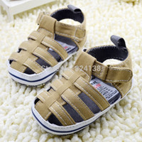 Wholesale Sandals For Models - Wholesale-Free shipping,bule girl boy baby sandals brand soft sole toddler shoes for summer pre-walker first walker kids shoe,many models