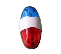 Wholesale Siren Flashing Light - Wholesale-1pcs Free Shipping Police 4-Melody Bicycle Power Horn Siren with 6-LED Red Flashing Light and Mount