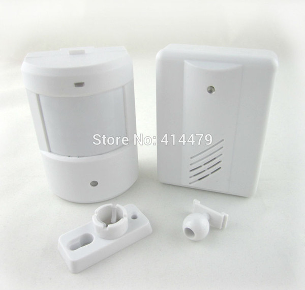 Wholesale-Wireless Driveway Garage Infrared Alert Secure System Motion Sensor Alarm doorbell Wireless Detector