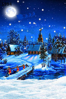 Wholesale Children S Christmas Photography - Wholesale-220CM * 150CM new2015 vinyl photography backdrops photo studio photographic background Christmas holiday snow s-14