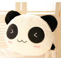 Wholesale Panda Birthday - Wholesale-Free shipping 30cm Special fashion lovely lying panda plush animal doll hold pillow soft baby birthday gift stuffed toy