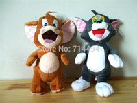 Wholesale Tom Cat Stuffed Animal - Wholesale-28cm 2pcs set Baby Toys Cat Tom And Jerry Mouse Plush Stuffed Toys Dolls Boneca Pelucia Brinquedos Learning&Education For
